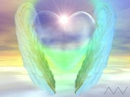 Angelic Wings with Glowing Heart